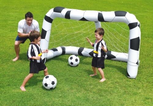 Fußballtor-Set, aufbl., inkl. 2 Bällen