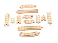 Mattel Thomas & seine Freunde Schienen und Kurven Set Holz
