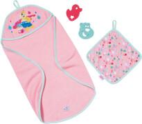 Zapf BABY born® Bath Handtuch mit Kapuze und Schwamm