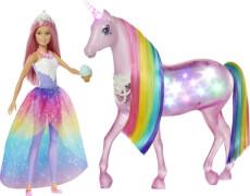 Mattel FXT26 Barbie Dreamtopia Magisches Zauberlicht Einhorn