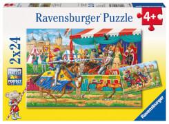 Ravensburger 90839  Puzzle Bei den Rittern 2 x 24 Teile