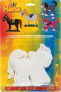 HAMA 4556 Bügelperlen Midi - 3er Set Stiftplatten im Blister - Pferd, Hund, Katze, ab 5 Jahren
