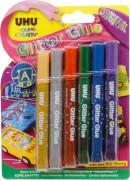 UHU 6er-Pack Glitter Glue á 10 ml