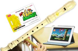 Flute Master (App) mit Blockflöte (dt. G