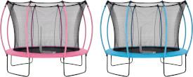 Plum 305cm Colours Springsafe® Trampolin mit Sicherheitsnetz - Flamingo Pink/Tropic Türkis