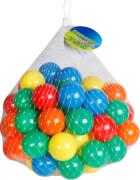Outdoor active Bälle für Bällebad, 70 Stück im Netz, in den Farben gelb, orange, grün, blau und rot, Outdoorspielzeug, Ø ca. 6 c