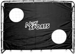 New Sports Fußballtor und Torwand, schwarz, ca. 25 mm Durchmesser, 213x152x76 cm, schwarz, ab 3 Jahren