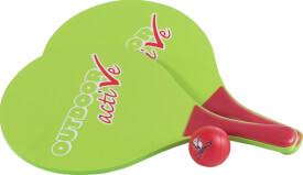 Outdoor active Beachball-Schlägerset mit Ball