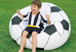 Fußballsessel, aufbl., ca. 114x112x71 cm
