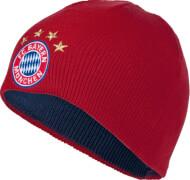 FC Bayern Wende-Beanie Kids Logo