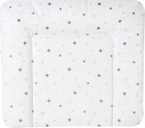 Schardt Wickelauflage Folie Sternchen, graun, 84 x 74 cm